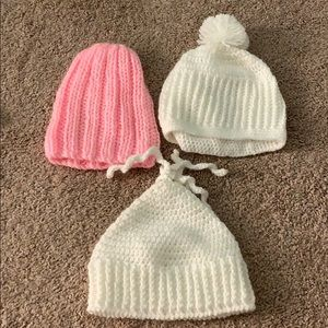 Handmade baby hats